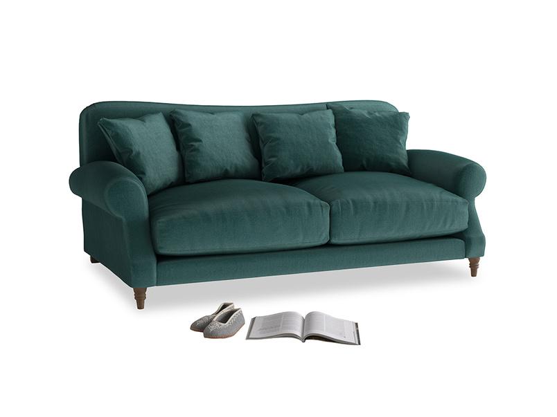 Medium Crumpet Sofa in Timeless teal vintage velvet