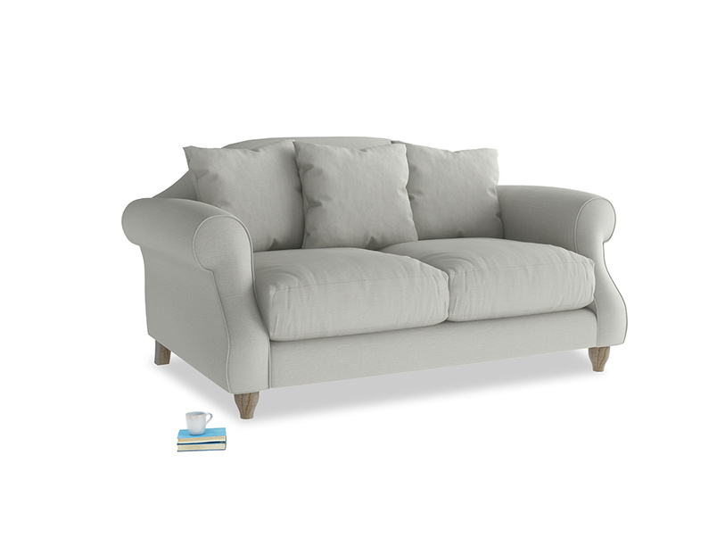 Small Sloucher Sofa in Mineral grey clever linen
