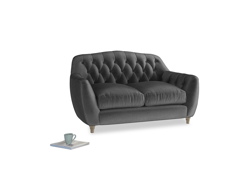 Small Butterbump Sofa in Scuttle grey vintage velvet