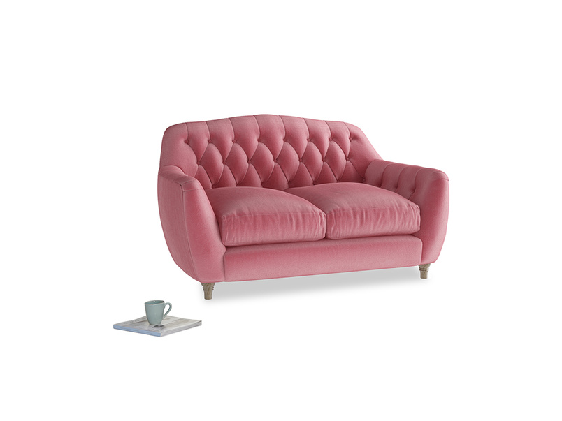 Small Butterbump Sofa in Blushed pink vintage velvet
