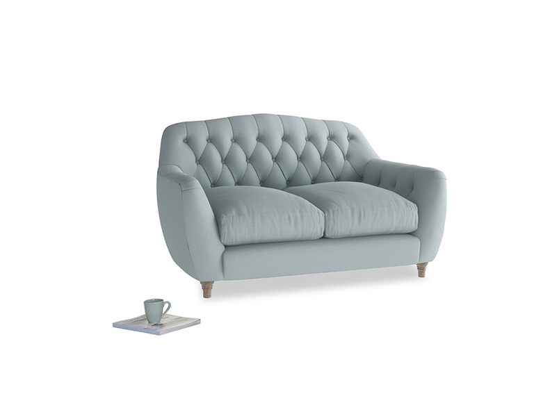 Small Butterbump Sofa in Quail's egg clever linen