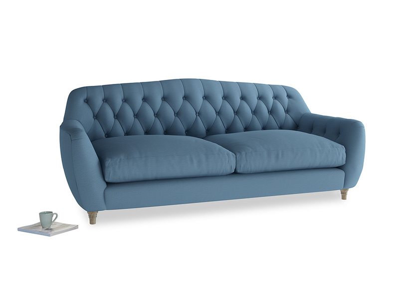 Large Butterbump Sofa in Easy blue clever linen