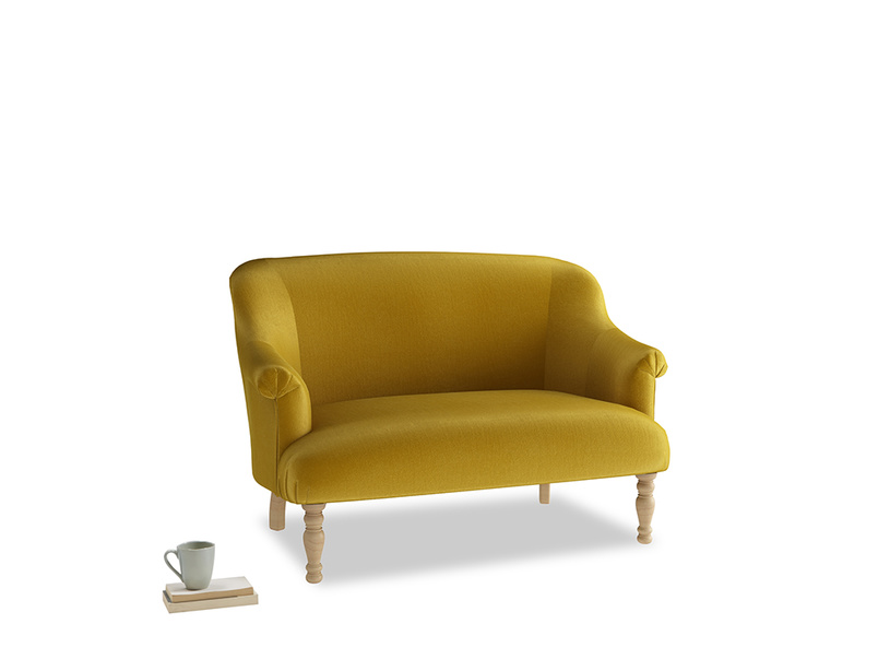 Small Sweetie Sofa in Burnt yellow vintage velvet
