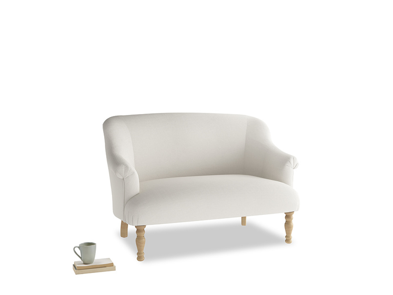 Small Sweetie Sofa in Oyster white clever linen