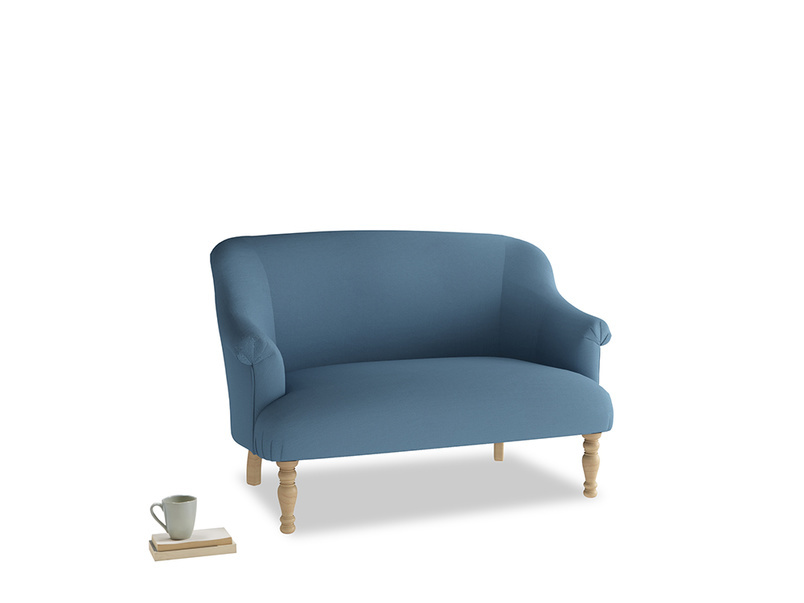 Small Sweetie Sofa in Easy blue clever linen