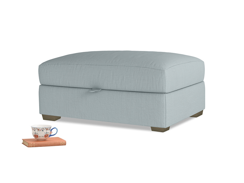 Bumper Storage Footstool in Quail's egg clever linen