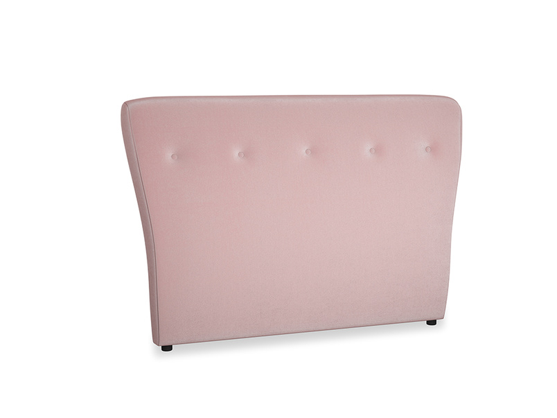 Double Smoke Headboard in Chalky Pink vintage velvet