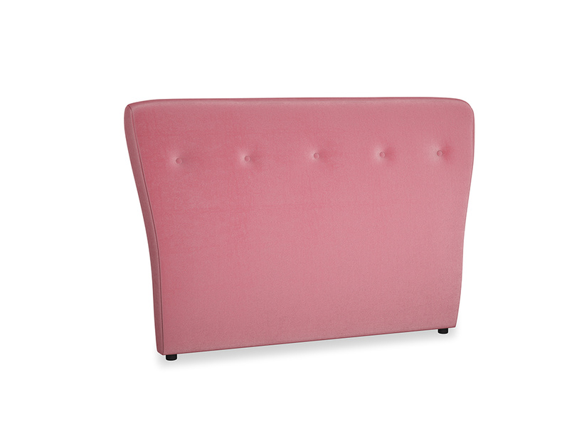 Double Smoke Headboard in Blushed pink vintage velvet