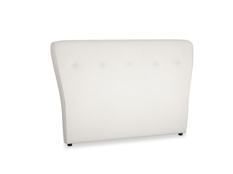 Double Smoke Headboard in Oyster white clever linen