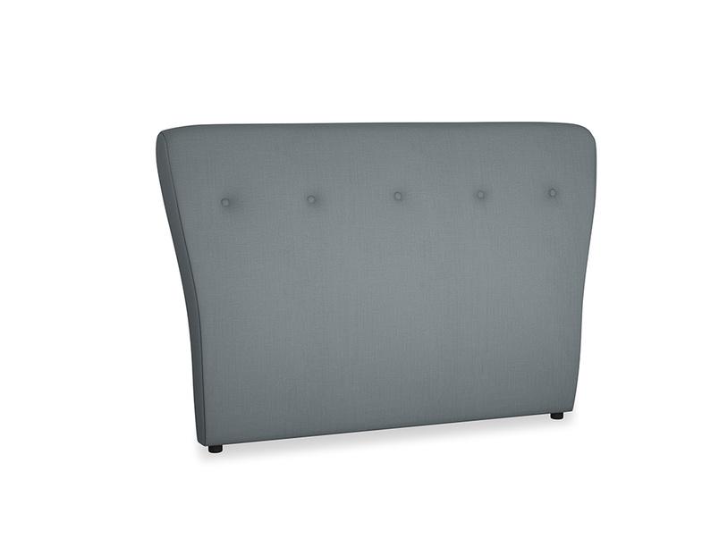 Double Smoke Headboard in Meteor grey clever linen