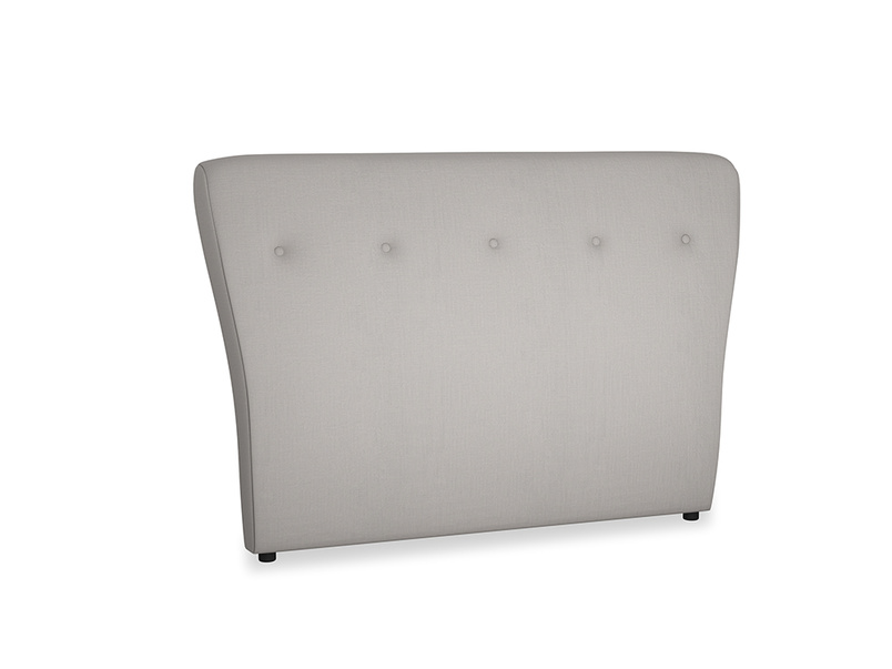 Double Smoke Headboard in Safe grey clever linen