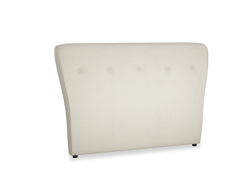Double Smoke Headboard in Pale rope clever linen