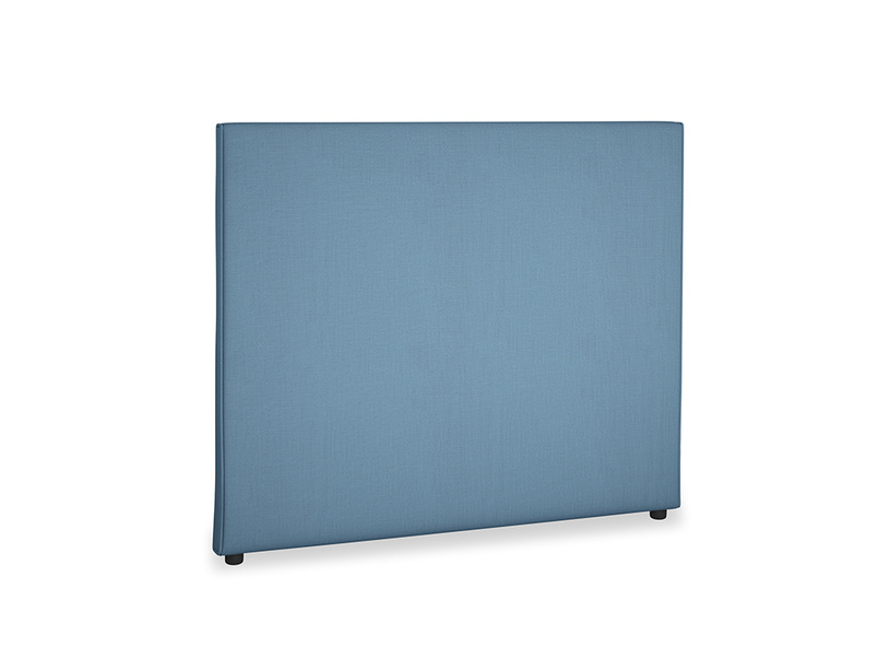 Double Piper Headboard in Easy blue clever linen
