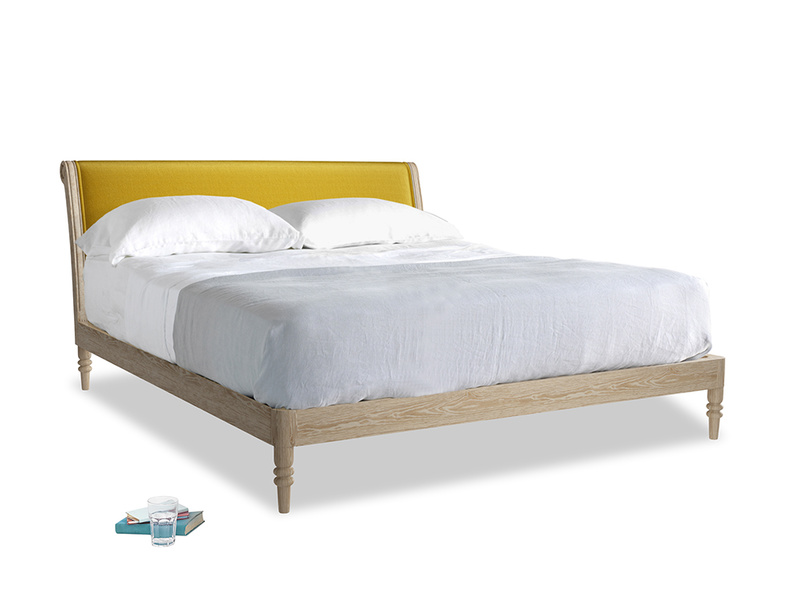 Superking Darcy Bed in Burnt yellow vintage velvet