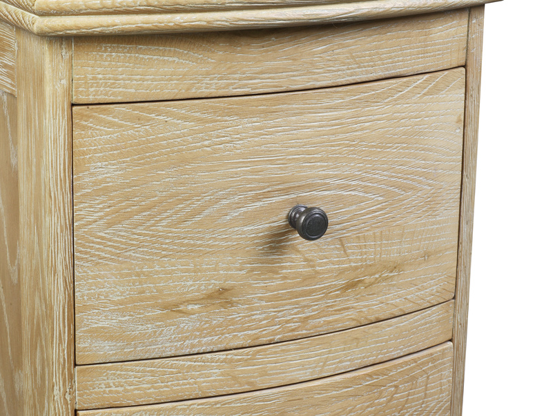 Weathered oak Bastille storage side table