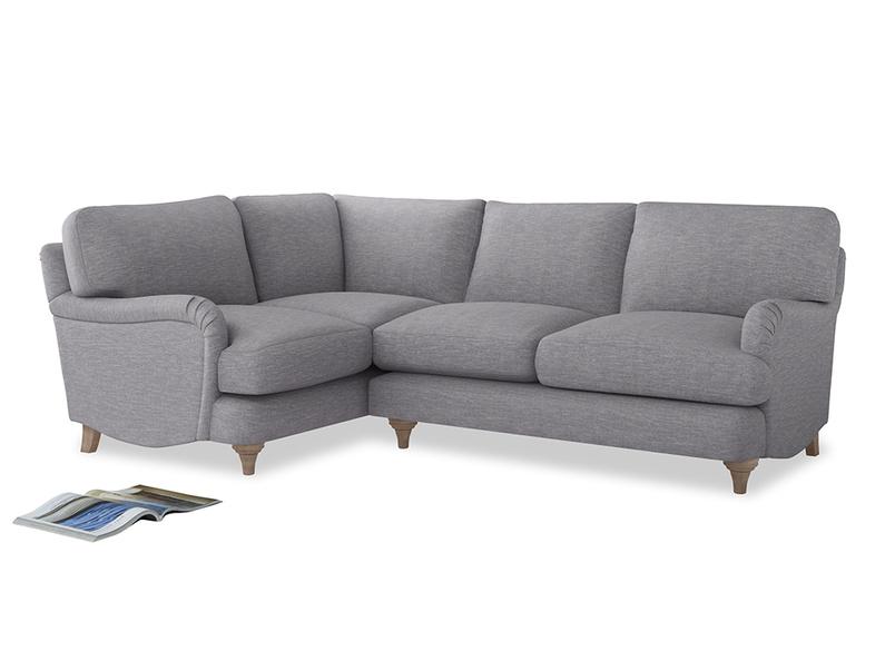 Large Left Hand Jonesy Corner Sofa in Storm cotton mix