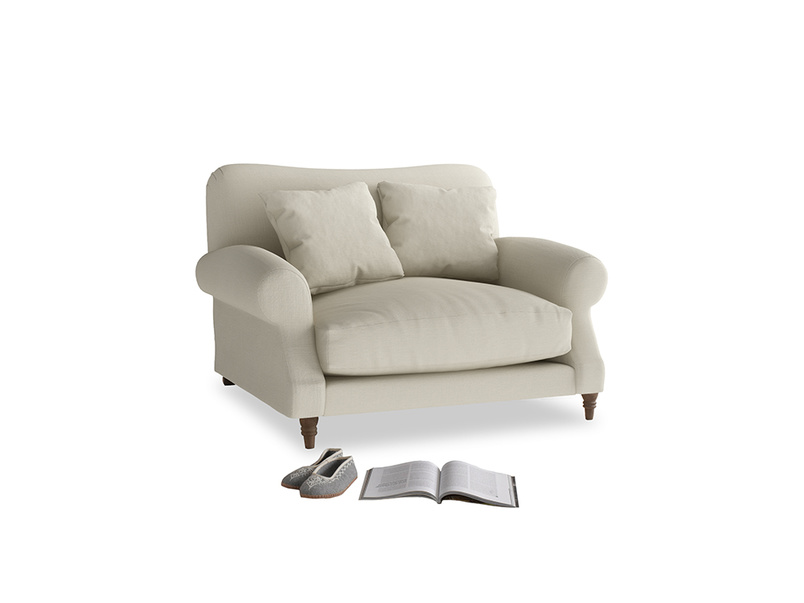 Crumpet Love seat in Pale rope clever linen