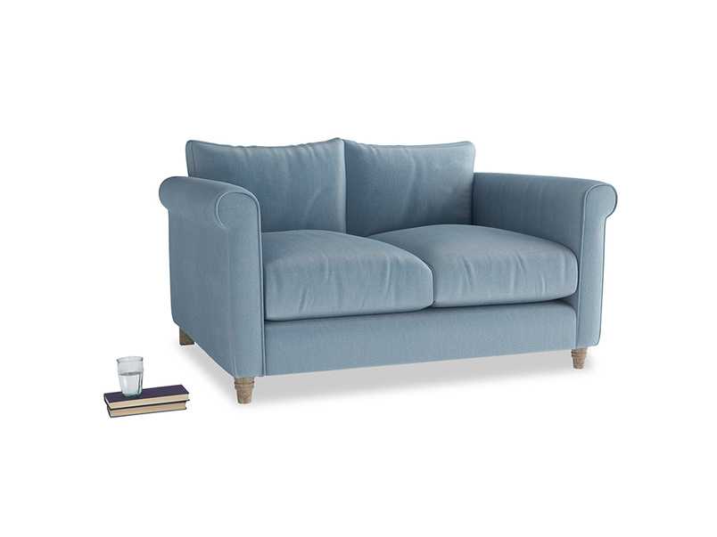 Small Weekender Sofa in Chalky blue vintage velvet