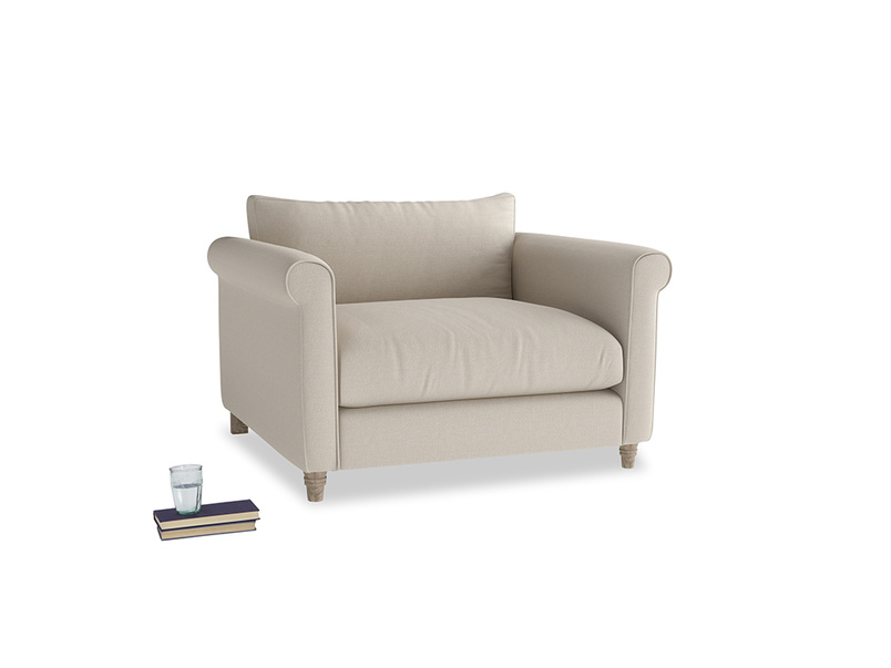 Weekender Love seat in Buff brushed cotton