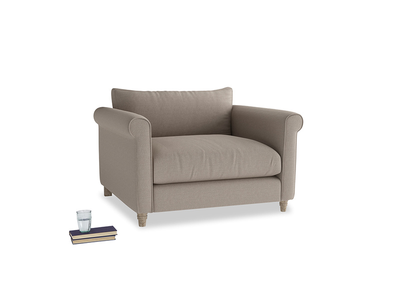 Weekender Love seat in Driftwood brushed cotton