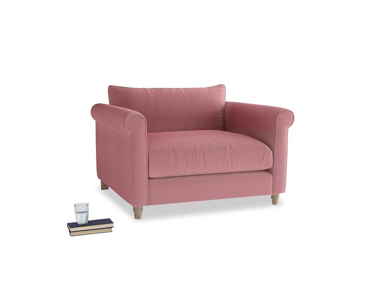 Weekender Love seat in Dusty Rose clever velvet