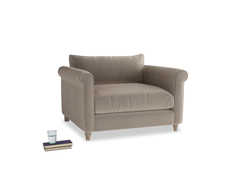 Weekender Love seat in Fawn clever velvet