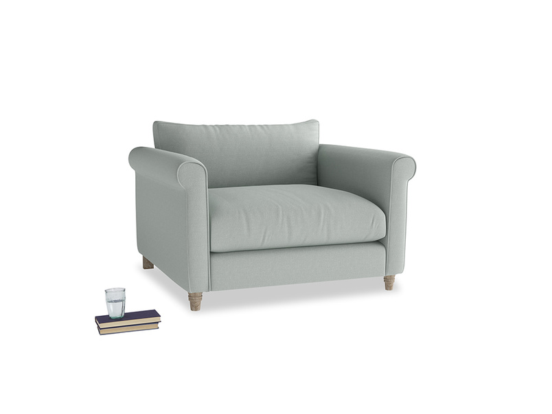 Weekender Love seat in French blue brushed cotton