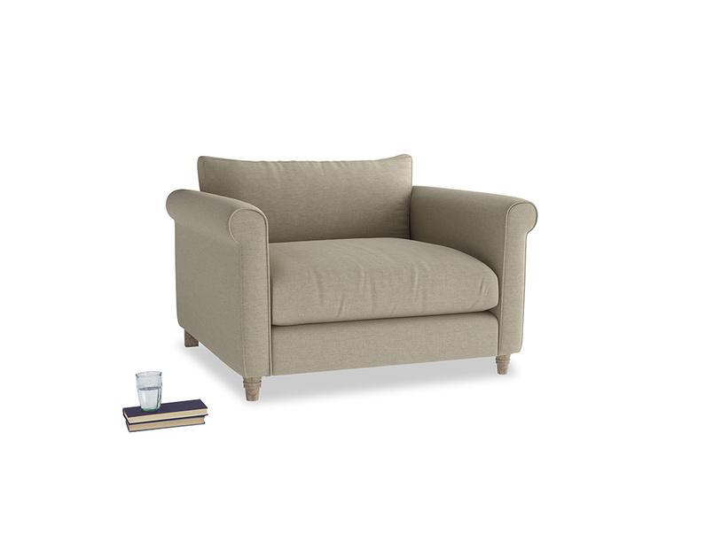Weekender Love seat in Jute vintage linen
