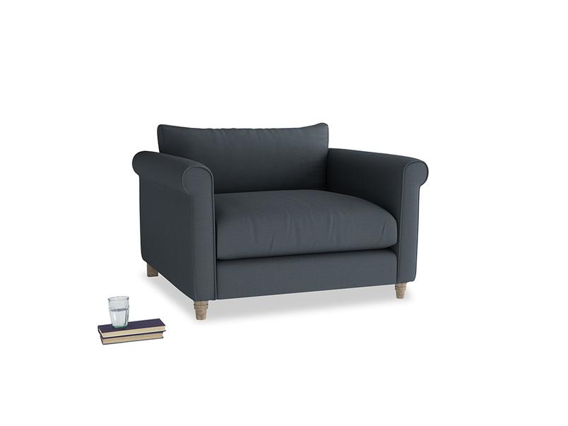 Weekender Love seat in Lava grey clever linen
