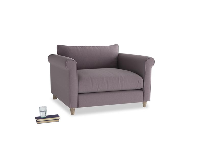Weekender Love seat in Lavender brushed cotton