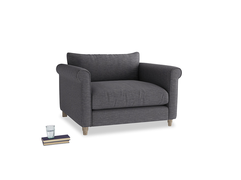 Weekender Love seat in Lead cotton mix