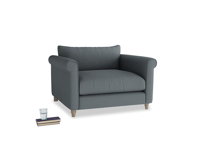 Weekender Love seat in Meteor grey clever linen