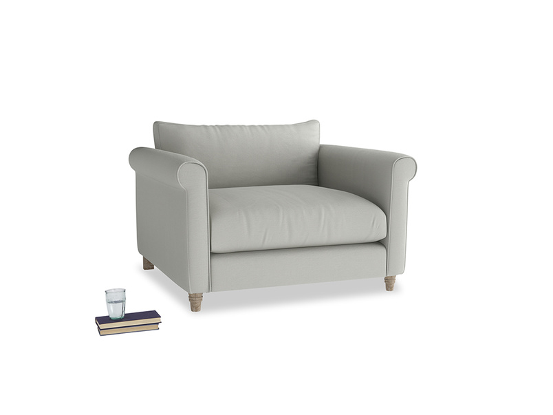Weekender Love seat in Mineral grey clever linen