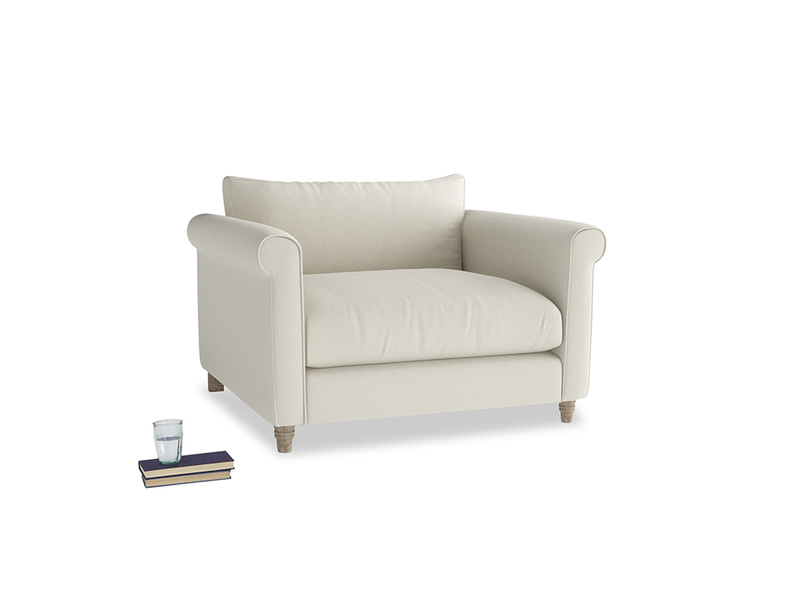 Weekender Love seat in Oat brushed cotton