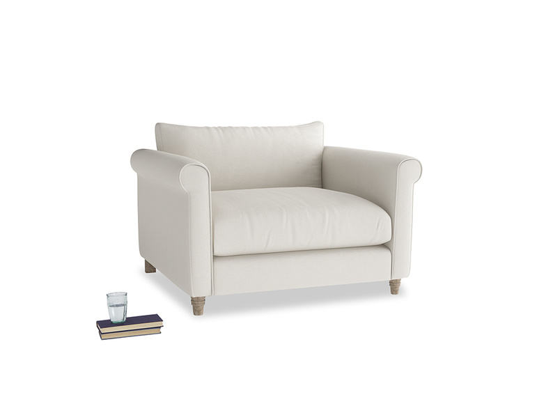 Weekender Love seat in Oyster white clever linen
