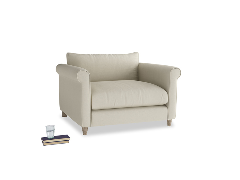 Weekender Love seat in Pale rope clever linen