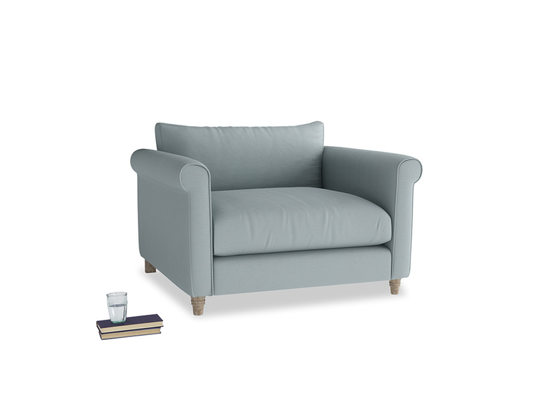 Weekender Love seat in Quail's egg clever linen