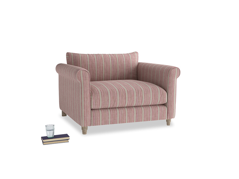 Weekender Love seat in Red french stripe