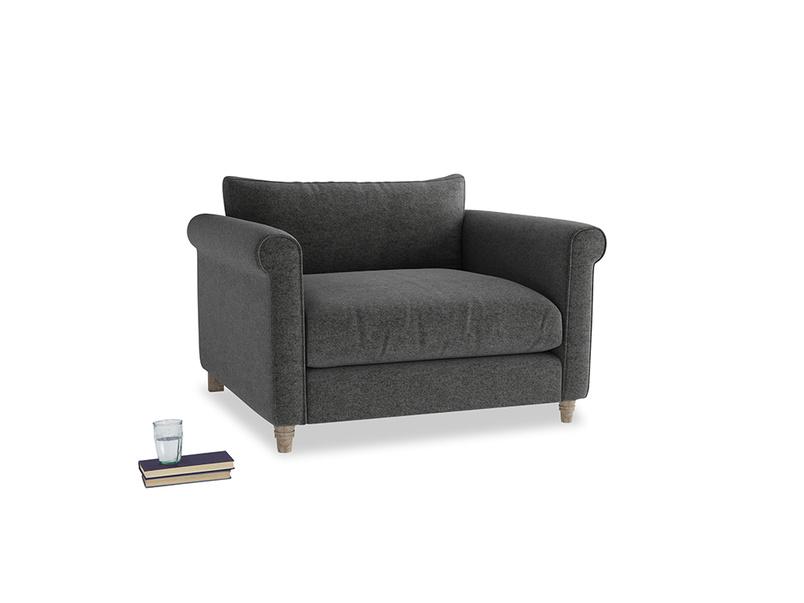 Weekender Love seat in Shadow Grey wool