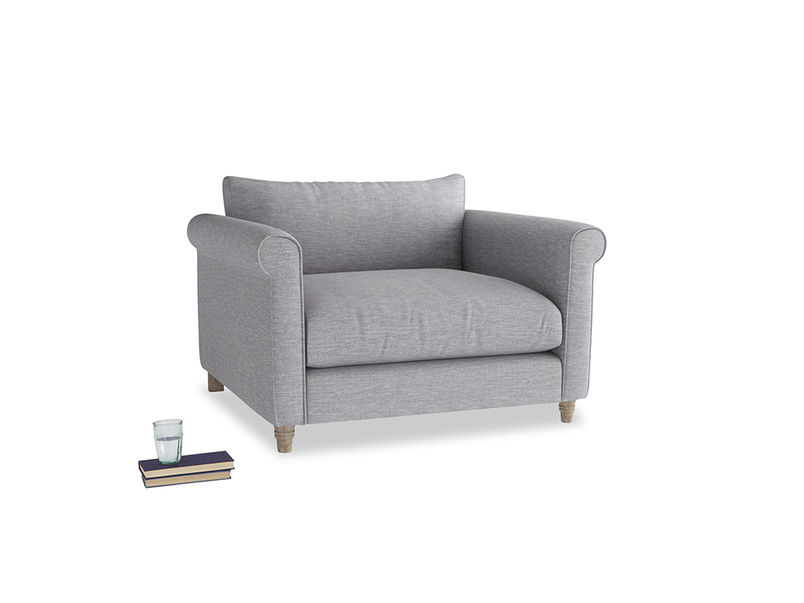 Weekender Love seat in Storm cotton mix
