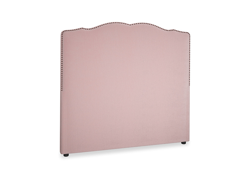 Double Marie Headboard in Chalky Pink vintage velvet