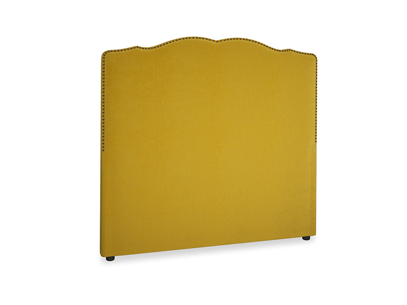Double Marie Headboard in Burnt yellow vintage velvet