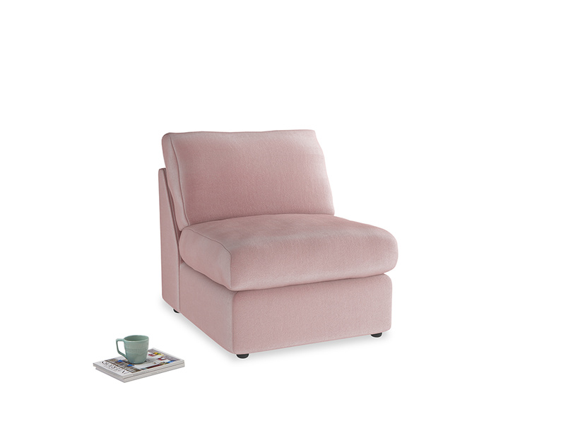 Chatnap Storage Single Seat in Chalky Pink vintage velvet