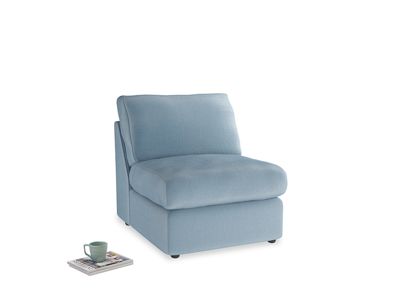 Chatnap Storage Single Seat in Chalky blue vintage velvet