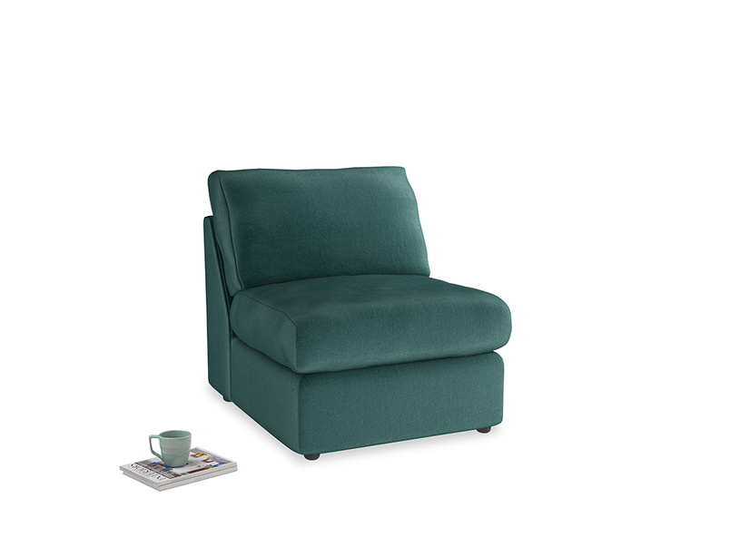 Chatnap Storage Single Seat in Timeless teal vintage velvet