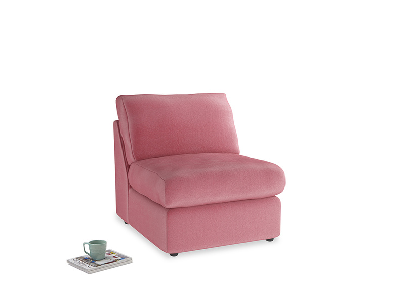 Chatnap Storage Single Seat in Blushed pink vintage velvet