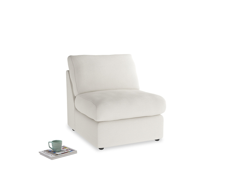 Chatnap Storage Single Seat in Oyster white clever linen