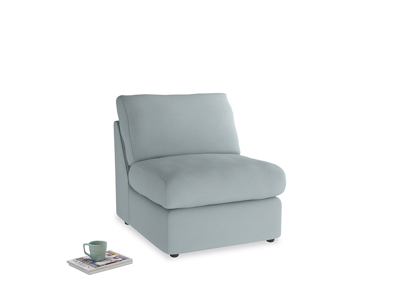 Chatnap Storage Single Seat in Quail's egg clever linen