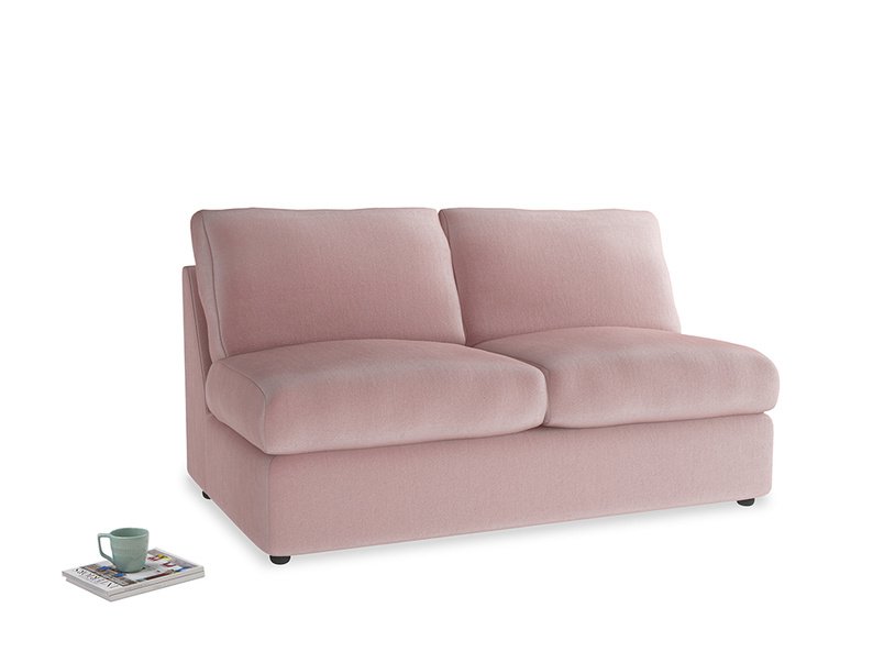 Chatnap Sofa Bed in Chalky Pink vintage velvet