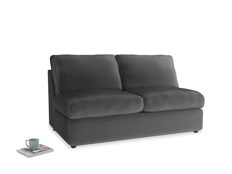 Chatnap Sofa Bed in Scuttle grey vintage velvet